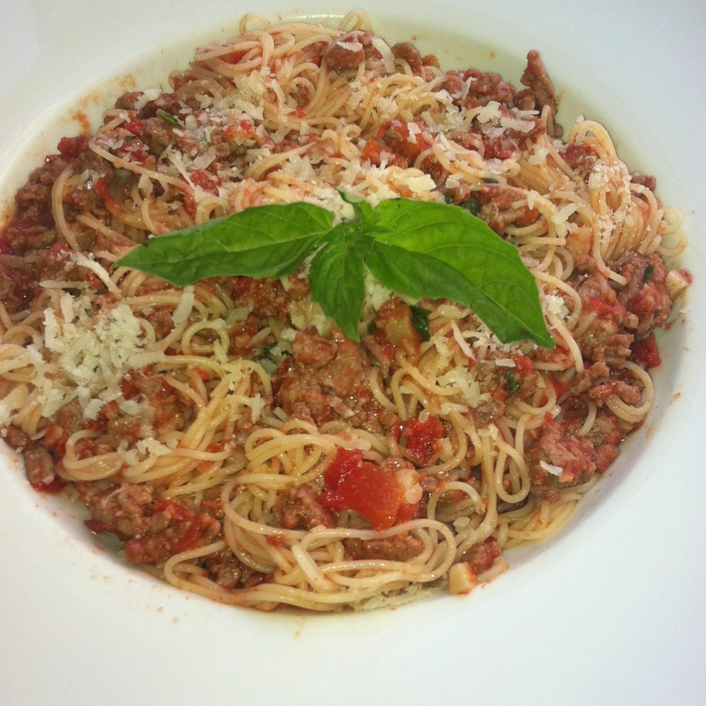 Angel Hair Pasta With Meat Sauce Yvette S Gourmet Kitchen