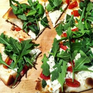 Thin Crust Margarita Arugula Pizza