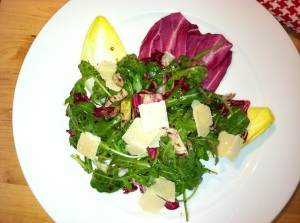 Arugula Endive Radicchio Salad