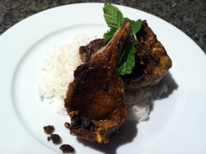 Indian spice lamb chops