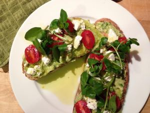 Avocado Sandwich with Watercress