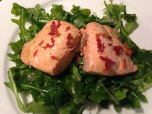 Poached Salmon in Ginger Orange Sauce