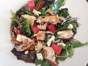 Chicken, Watermelon and Goat Cheese Salad
