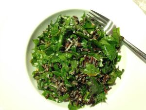 Kale Swiss Chard and Wild Rice Salad