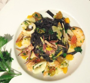 Squid Ink Pasta photoshop