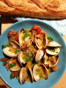 Clams with Chorizo
