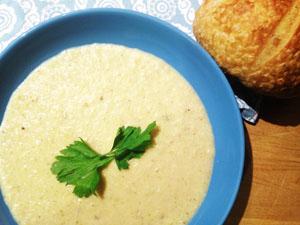 Garlicky, Cauliflower Celery Soup photoshop