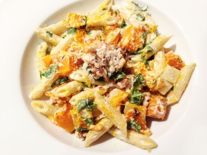 Penne with Kabocha Squash and Goat Cheese photoshop