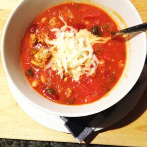 Spicy Turkey & Bean Chili photoshop