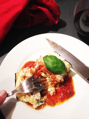 Eggplant rollitini cut photoshop