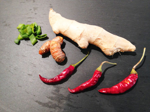 turmeric ginger chili photoshop