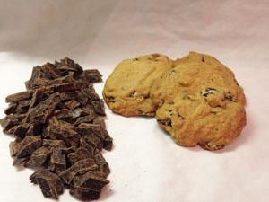 chocolate chunk cookies photoshop