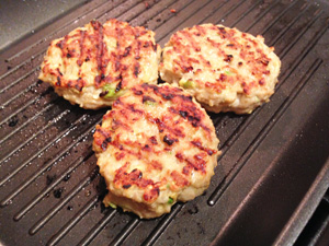 Chicken Avocado Burger grilling photoshop