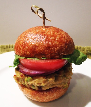 Chicken Avocado Burger photoshop