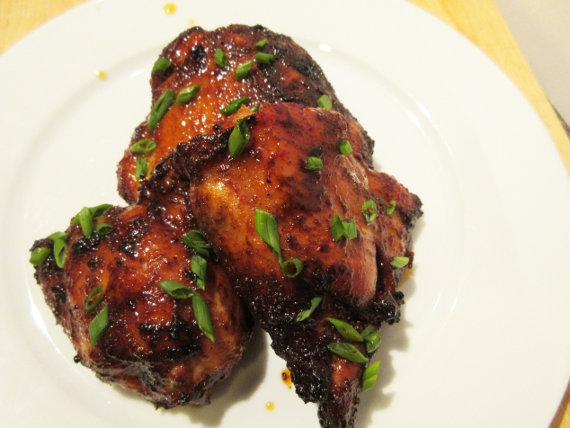 Baked Spicy Chicken with Honey Galze