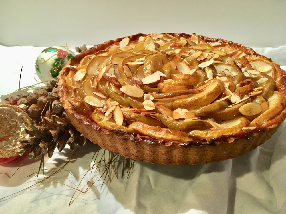 Pear and almond tart2