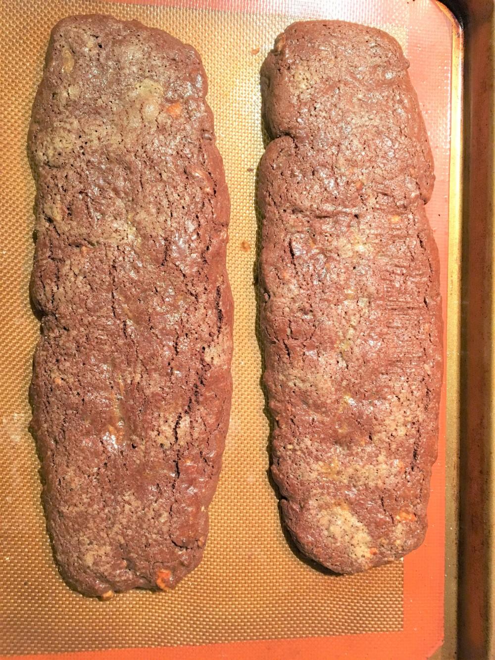 chocolate biscotti loafs