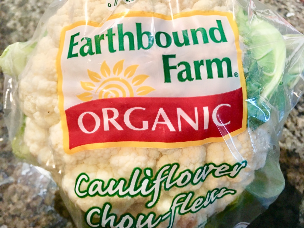 cauliflower in packaging