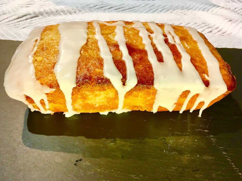 lemon cake drizzled