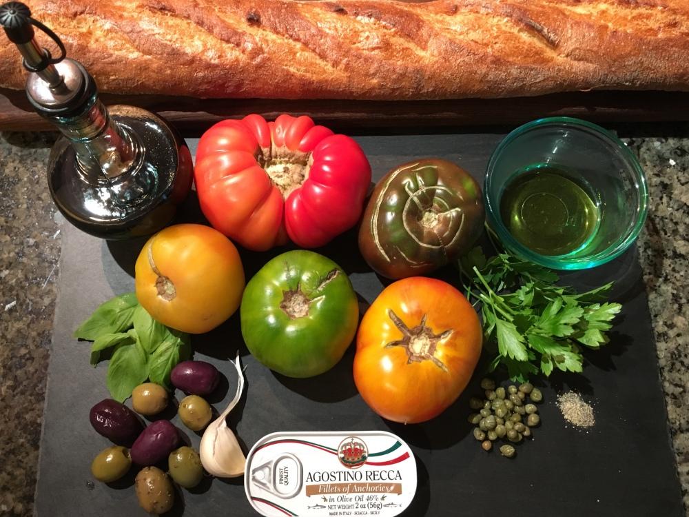 Mediterranean salad ingredients new
