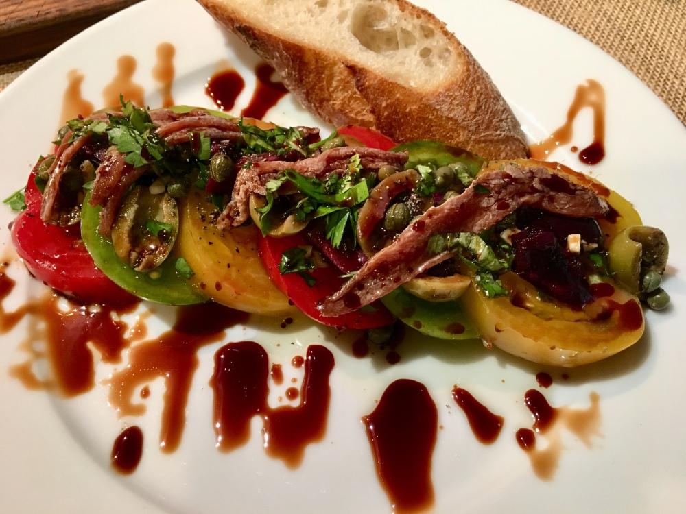 mediterranean salad with bread